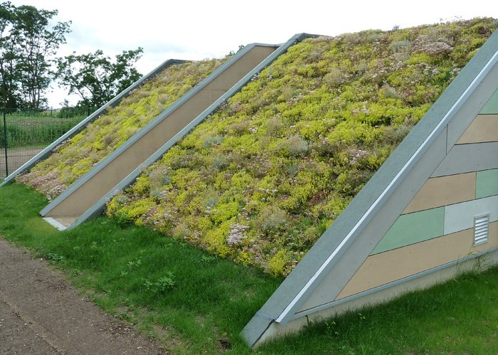 HYDROPACK® green roof system on very steel roof