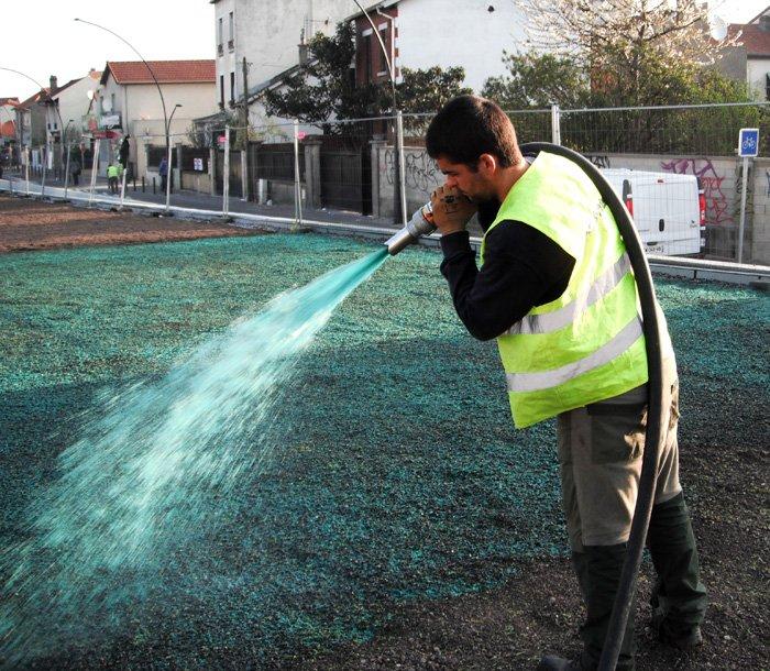 Mise en oeuvre du  procédé de semis hydraulique iD SURE